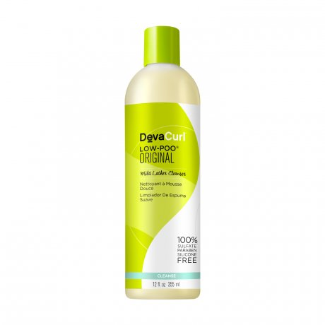 DevaCurl Low-Poo Original Mild Lather Cleanser - For Curly Hair - 12 oz.