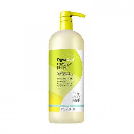 DevaCurl Low-Poo Delight Weightless Waves Mild Lather Cleanser - For Wavy/Curly Hair - 32 oz.