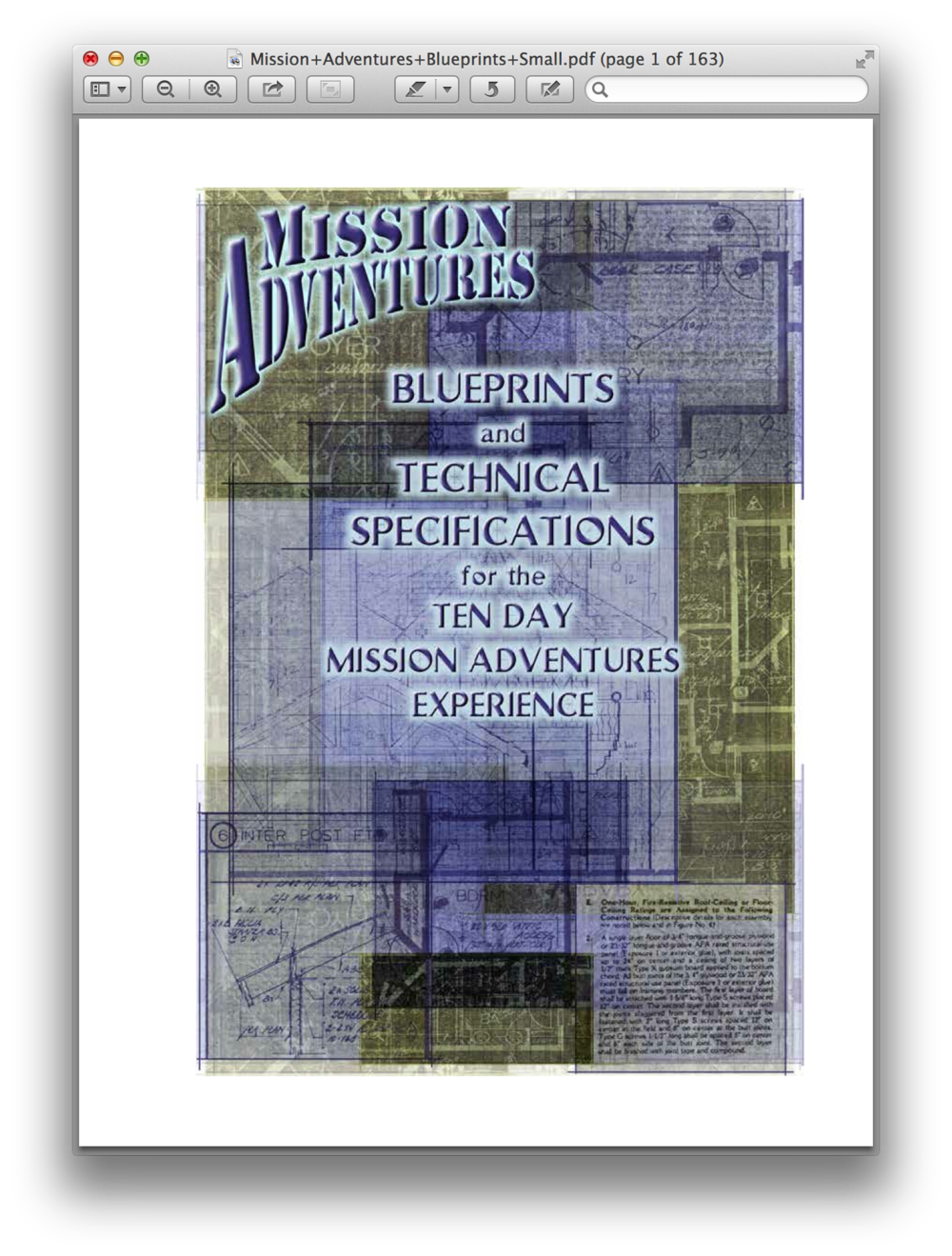 The Blueprints  This is it! This 163 page PDF is the foundation of Mission Adventures. It's got more than you want to know about how to make your MA ministry amazing!