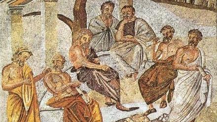 Plato's Academy, Pompeii Mosaic -- Wikimedia Commons (Public Domain)