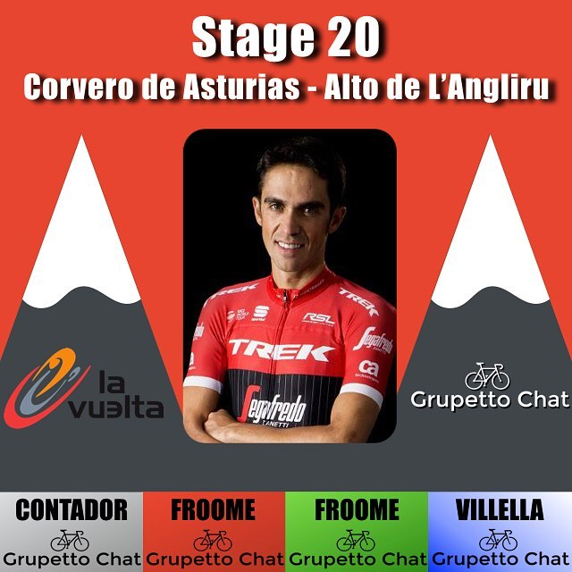On the final mountain of @acontadoroficial 's carrer, he powers away from the group of favorites to win atop the #angliru @chrisfroome finished with team @wout.poels @teamsky to ride into #Madrid wearing the red jersey. @vincenzonibali @bahrain_merida stands in second place overall while @zakarin444 @katushacycling stands in third place overall. @davide_villella @rideargyle secures the mountains classification while @chrisfroome secures the Points classification and the combination classification in the #lv2017 #lavuelta
