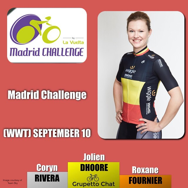 The final #UCIWWT event of the year in #madrid shows a strong sprint win from @joliendhoore ahead of top American sprinter @corynrivera #madridchallenge