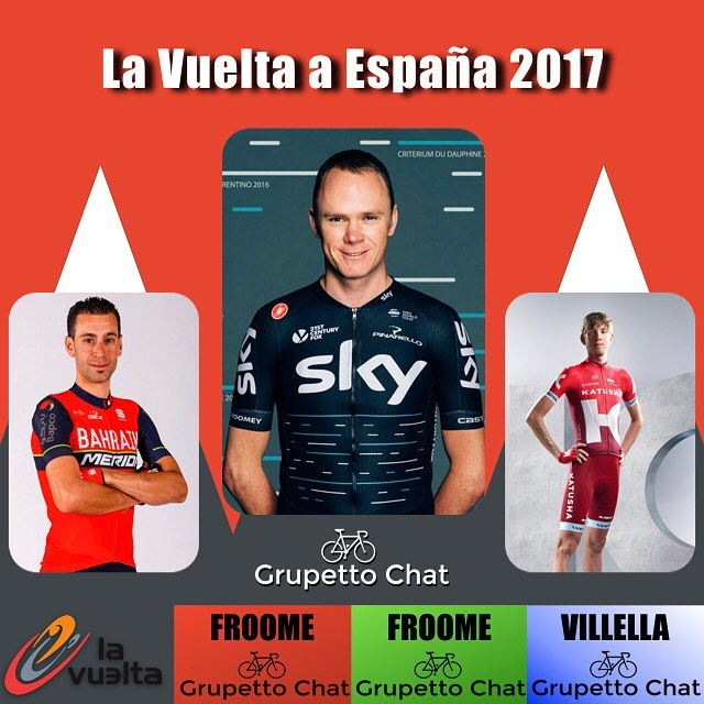 The #lv2017 #lavuelta ends with @chrisfroome winning three of the four jerseys on offer. He takes the GC ahead of @vincenzonibali and @zakarin444 as well as the Points classification ahead of @matteotrentin and @vincenzonibali Taking these two classifications also yields him the combination classification (lowest total numerical position of each other classification GC, points, and mountains) @davide_villella @rideargyle takes home the mountains classification #rockthedots