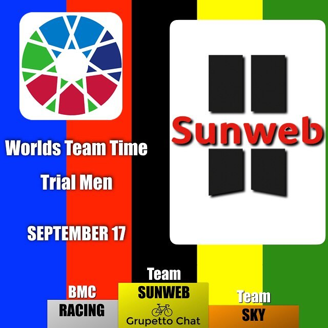Amazingly @teamsunweb wins both the men's and women's team time trial at #bergen2017 this time ahead of two time champs @bmcproteam and @teamsky