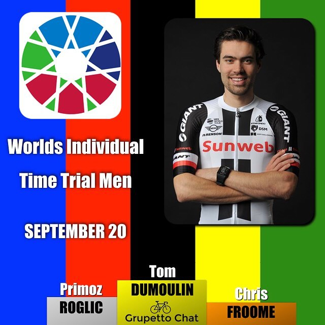 Another victory for the @teamsunweb with @tomdumoulin90 taking the #bergen2017 Worlds Individual Time Trial making it a Dutch victory in both Elite ITTs