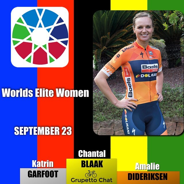 #bergen2017 @chantalblaak @boelsdolmansct takes the rainbow jersey solo ahead of a charging peloton lead home by @katrin_garfoot and @amaliedideriksen