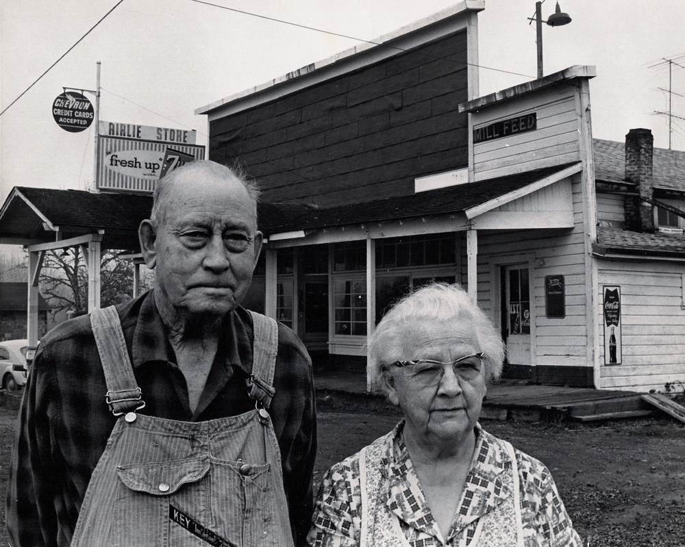 Jim's Great-Grandparents in front of their store in Airlie