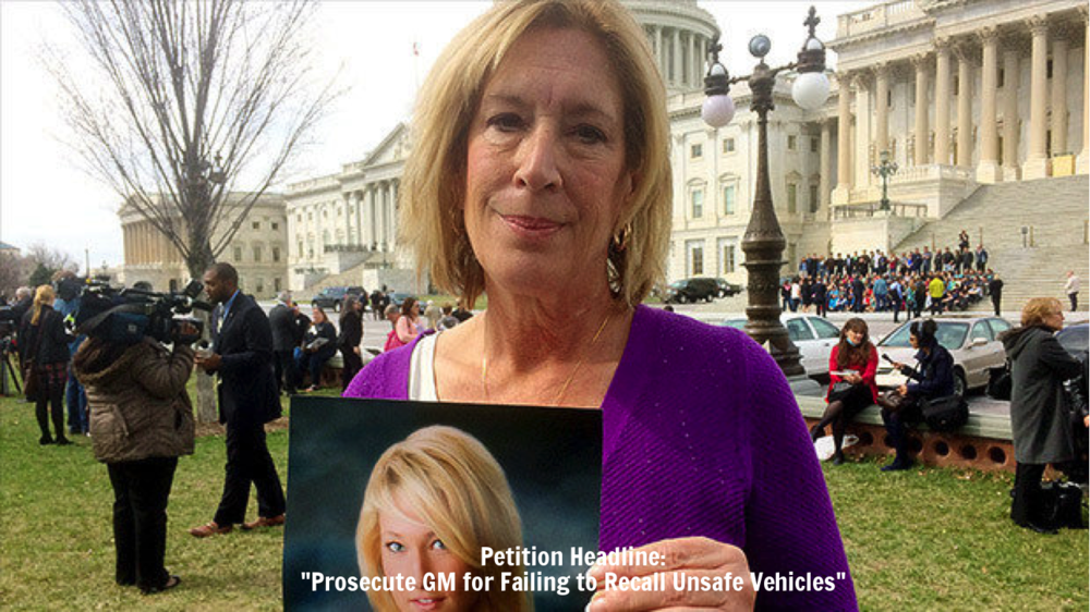 "Petition Headline: ""Prosecute GM for Failing to Recall Unsafe Vehicles"""