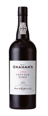 Graham's Vintage Port 1994  - vinous, extremely balanced and offering scents of red licorice and raspberry fruit with a mocha note and ripe/round tannins to deliver a deft balance