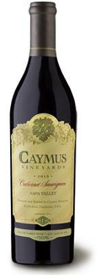 Caymus Napa Valley Cabernet Sauvignon  - scents of dark cherry and blackberry, subtly layered with warm notes of vanilla and flourishes of cocoa and sweet tobacco