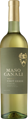 Maso Canali Pinot Grigio   - crisp, with citrus and floral notes, the latter of which isn't overpowering
