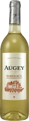 Augey White Bordeaux   - a blend of Sauvignon Blanc and Sémillon with fresh aromas of citrus, apples, and a hint of lemon grass—and not too sweet