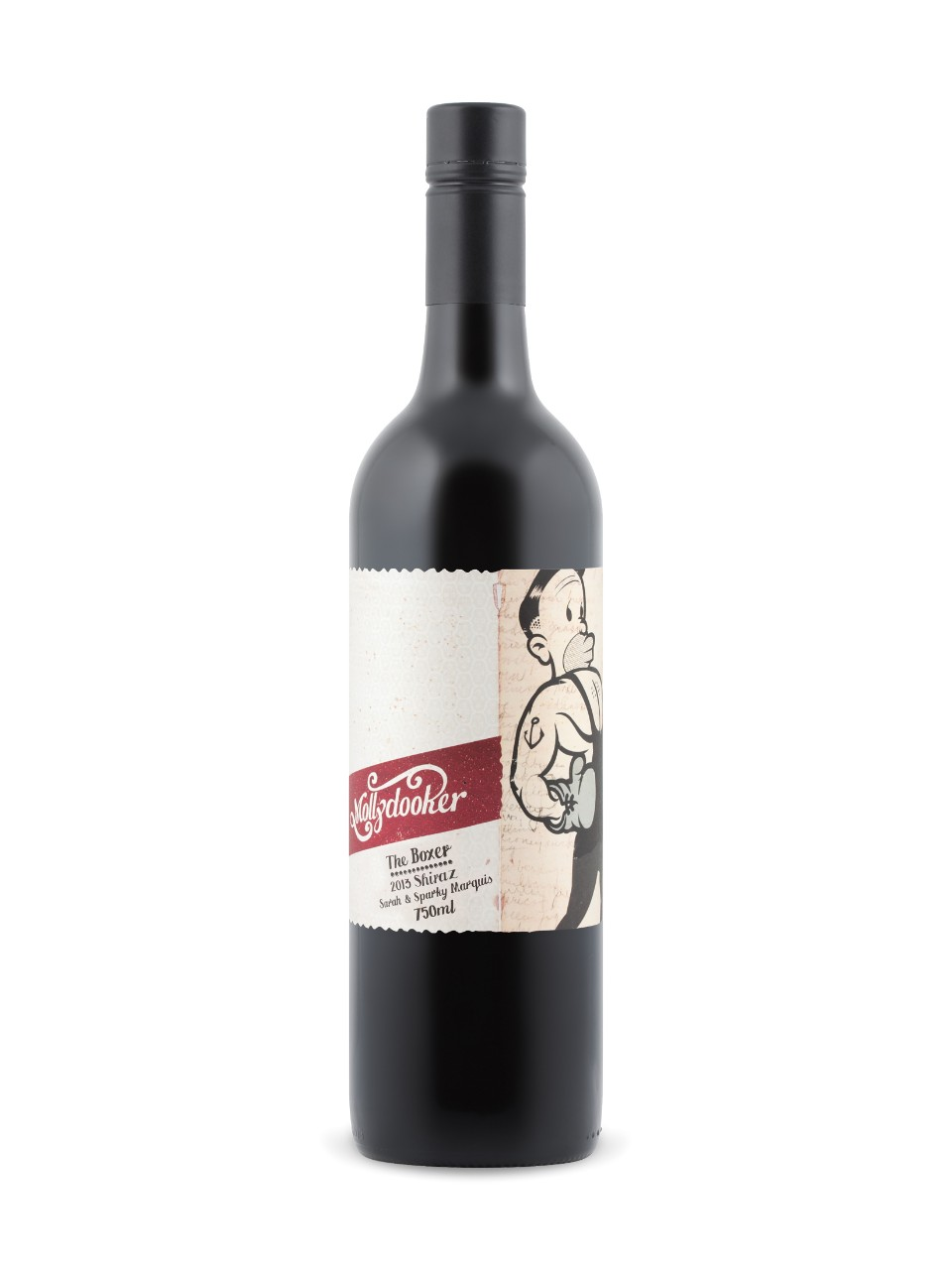 "Mollydooker ""The Boxer"" Shiraz   - elegant, beautiful, and full-bodied; creamy with massive powerful dark chocolate flavors; plum jam, mocha, licorice all sorts, plus raspberry, blackberry, coffee, spice, anise, and cigar shop."