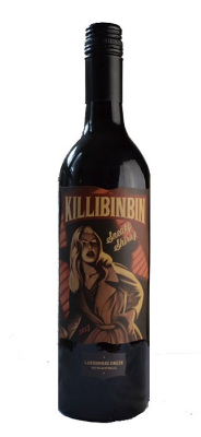 Killibinbin Sneaky Shiraz  - a beautiful, deep garnet color, with loads of dark berries on the nose. It's got a light mouthfeel, with tannins and spice that sneak up on you (they do!) and play nicely with the young, plummy flavors of the wine