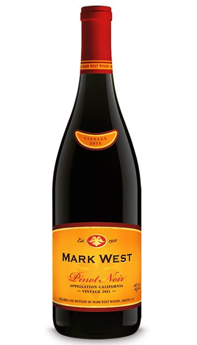 Mark West Pinot Noir - the fruit forward flavors of strawberry and cherry cola, along with soft tannins but a nice bite of acid, make this wine a great complement to meats of all kinds—cheeseburgers, bbq chicken, grilled salmon—as well as any cheese plate