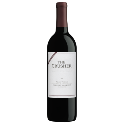 The Crusher Cabernet Sauvignon - Vibrant and a little smoky, with hints of blackberry, cherries, and a touch of oak