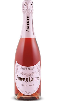 Juvé Y Camps Rosé Brut Cava ($17) – delicious with strawberries & cream on the porch—or a romantic picnic under the stars