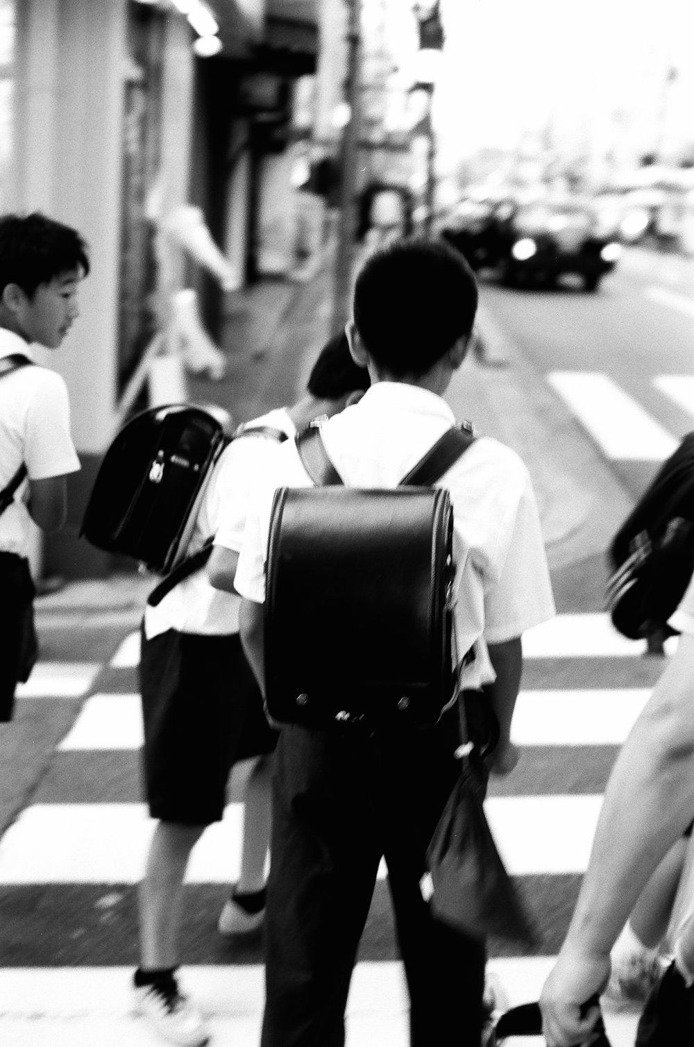 Kyoto, Japan. School Rush.JPG