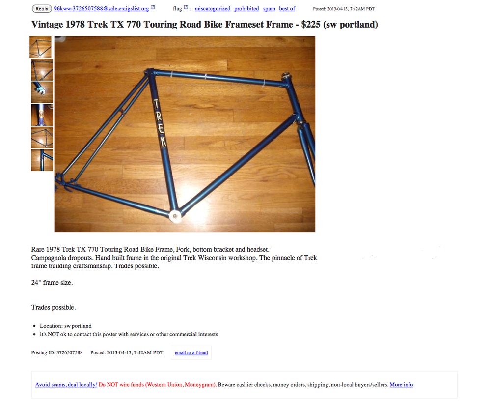 Frame modifications and refurbis — Norther cycles