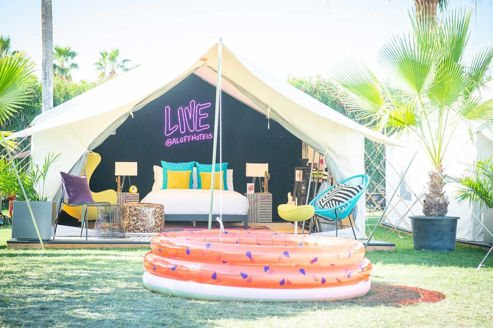 Coachella: Aloft Safari Tent