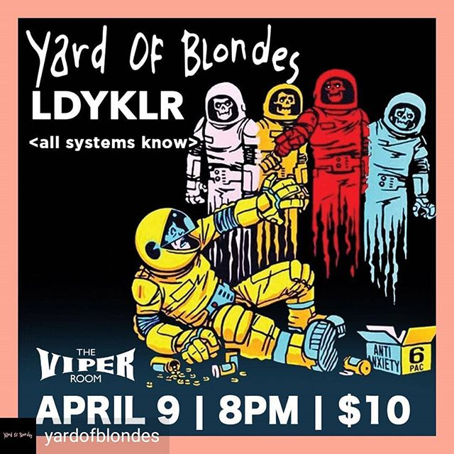 Gonna be playing this Tuesday with @yardofblondes at @theviperroom !!