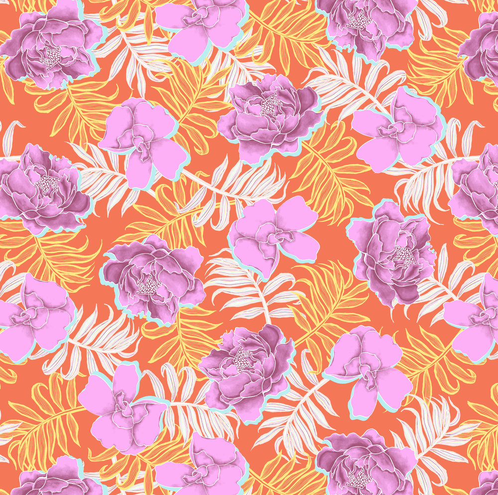 06320 - Asian Floral - 24 in Repeat - Dk Sunset Splash Combo - Target Xhilaration 2019.jpg