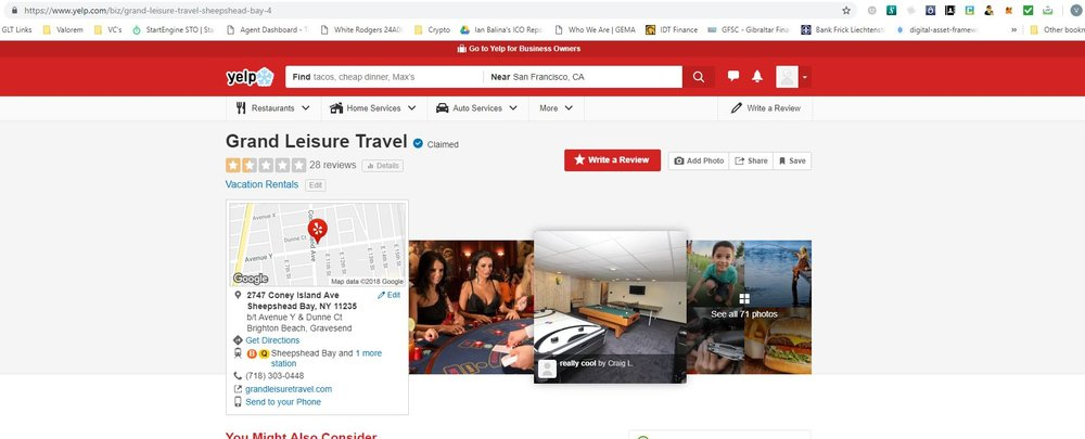 grand leisure travel yelp page.JPG