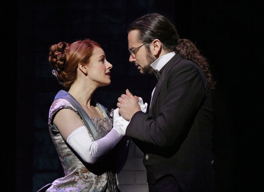 Teal Wicks as Emma Carew with Constantine Maroulis as Jekyll in the recent Broadway production of JEKYLL & HYDE. It wasn't a great show, but she was the best part of it.