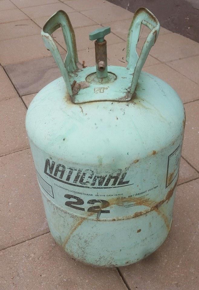 Old Helium Tank