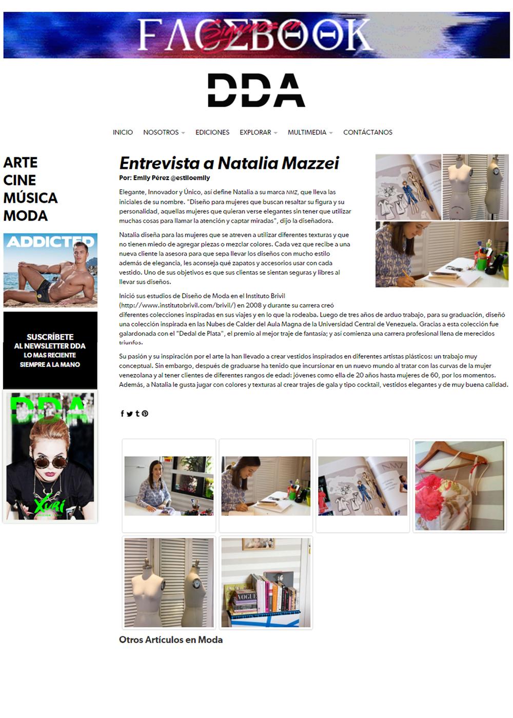 www.revistadda.com - Noviembre 2015