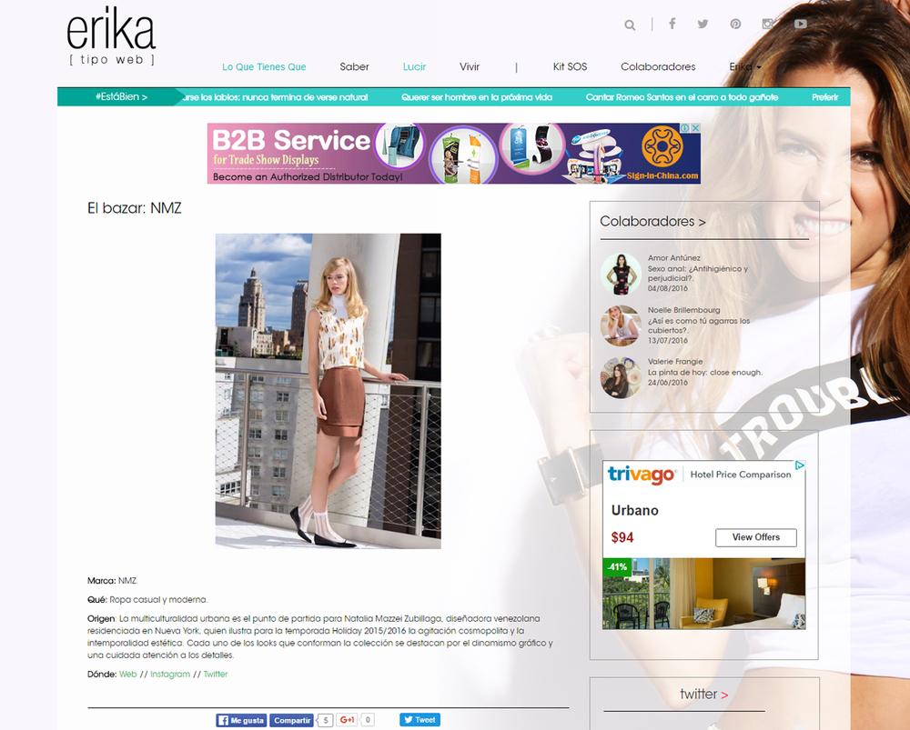 www.erikatipoweb.com  - Noviembre 2015