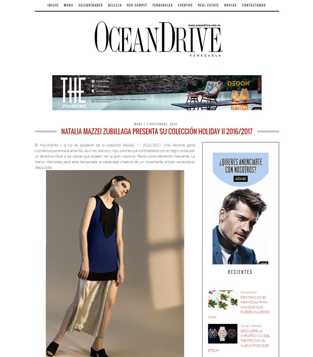 www.oceandrive.com.ve  - Noviembre 2016