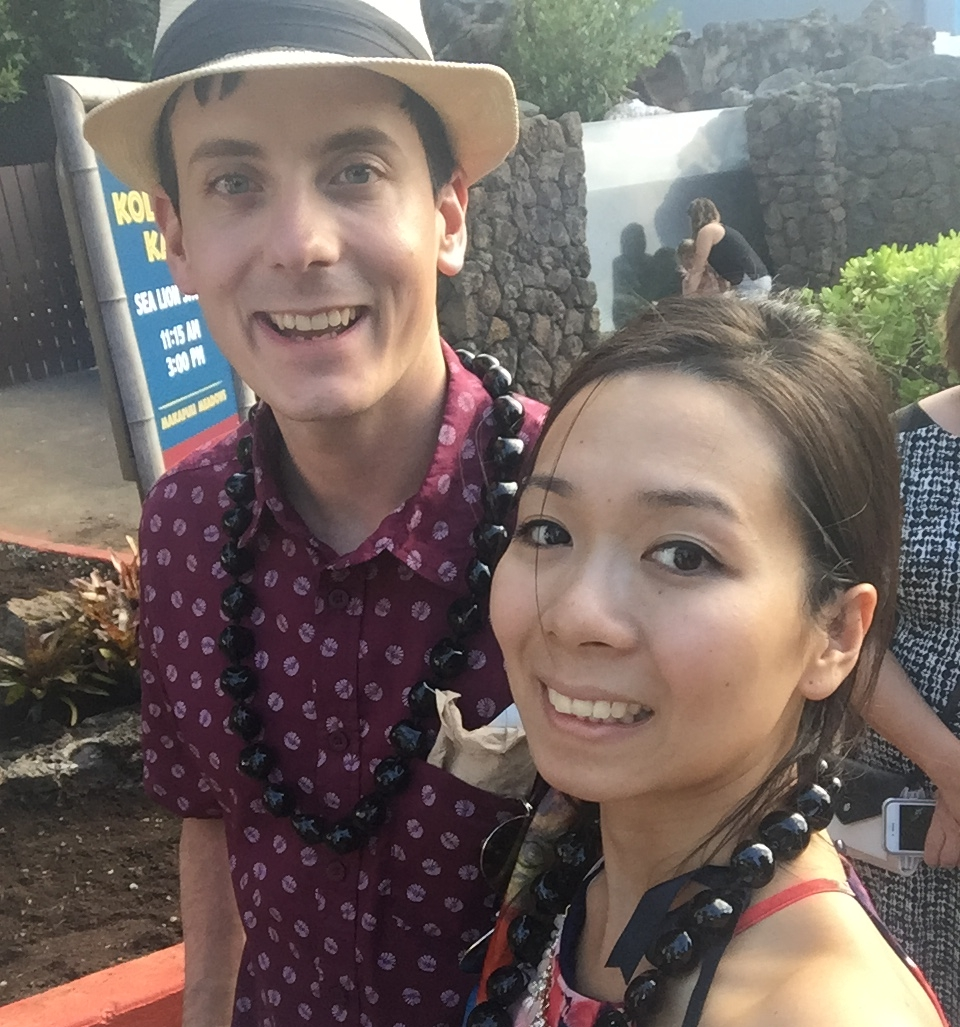 My lovely wife and I on our stereotypical, Hawaiian honeymoon.