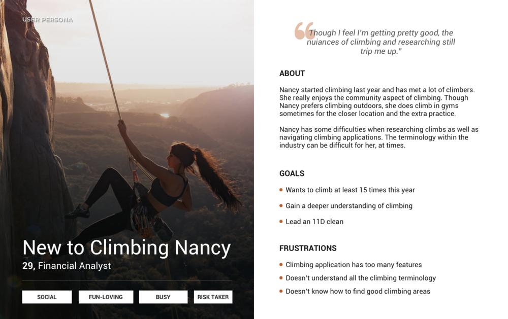 Novice Climber Persona