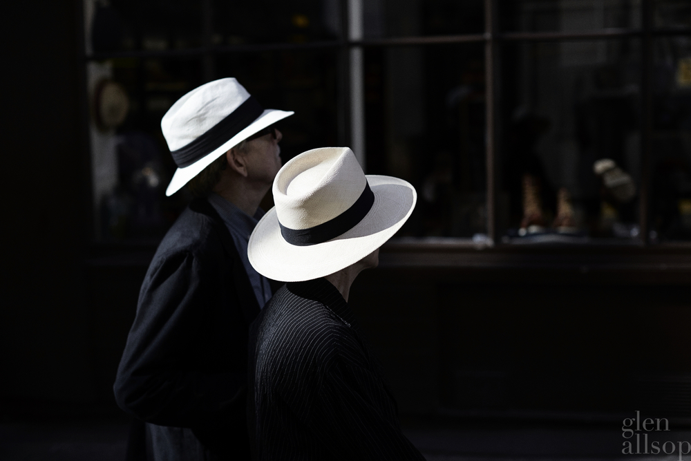 panema hat-london-white hat black band