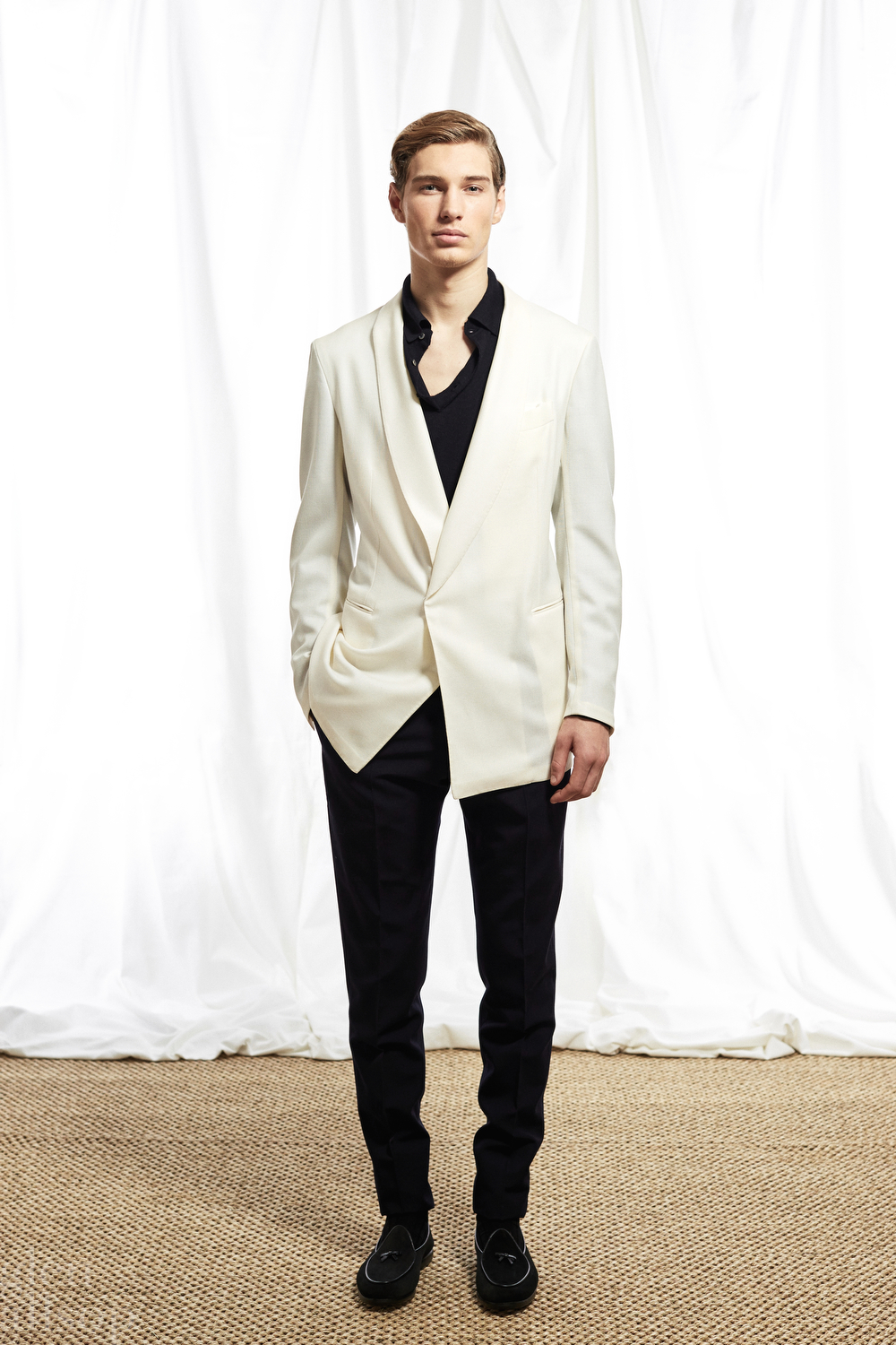 p johnson-woolmark-unstructured dinner jacket-white tuxedo