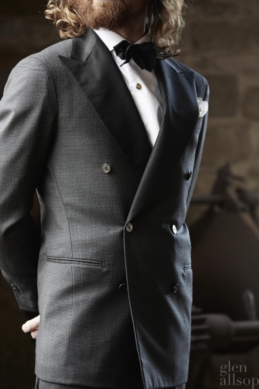 double breasted tuxedo-grey tuxedo-eidos