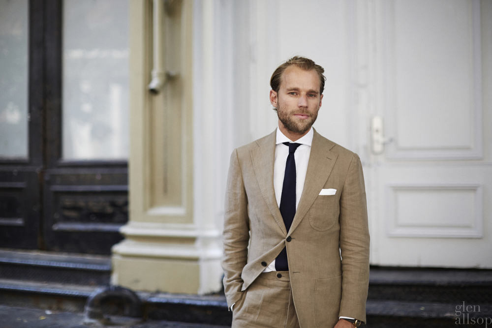 patrick johnson-linen suit-casual italian suit-glen allsop