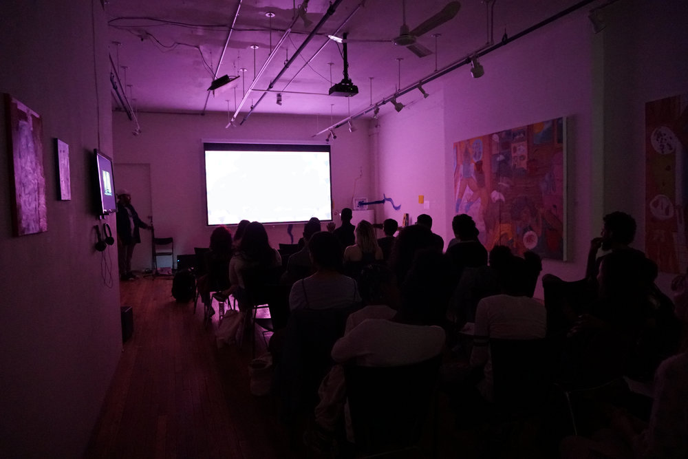 Photo of film screening in BronxArtSpace
