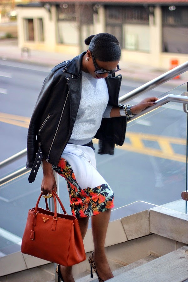 biker jacket, leather jacket,laer, laer jacket, laer biker jacket, marc jacob, silver sweatshirt, grey sweatshirt, midi skirt, clover canyon, floral skirt, reed krakfoff, reed krakoff cuff, orange bag,  prada bag, saffinano lux tote, saffinano tote, prada tote, style theory, temeka raymond , christian dior, leopard pumps, black and brown shoes, leopard print, shopstyle,CELINE SUNGLASSES , CELINE sunglasses, FASHON, STYLE, FASHION BLOG, FASHION BLOGGER, F BLOGGER, STYLE BLOG, STYLEBLOGGER, STYLIST, STYLISH, STREETSTYLE, PERSONAL STYLE, PERSONAL STYLE BLOGGER, BLOGGER, BLOG, INSTA STYLE, INSTA FASHION, WHAT TO WEAR, OOTD, FASHION OF THE DAY, STYLE OF THE DAY, FASHION AND STYLE, winter STYLE, WHAT TO WEAR FOR This season, MUST HAVE, winter TRENDS, fashion TRENDS  , YUNUS AND ELIZA, GOLD RING, WING RING