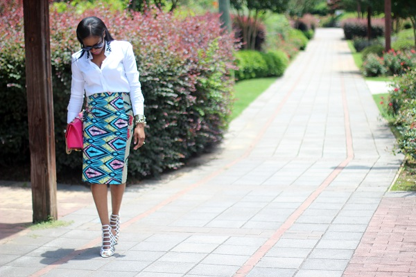 white shirt, embellished shirt, embellished collar shirt, asos, ann taylor, sale, white shoes, schutz shoes, cage shoes, Juliana shoes, simi sade skirt, ankara skirt, tribal print, African print skirt, pencil skirt, print on print, celine sunglasses, pink bag, valentino bag, rocksstuds,  MONDAY MOTIVATION, MCM, MONDAY, NEW WEEK, TODAY, STYLE INSPIRATION , MONDAY STYLE INSPIRATION, rawler earrings, earrings, valentino, rocks studs, valentino rocks studs, celine, tortoise shell, tortoise sunglasses, celine sunglasses, celine clutch, blue clutch, blue bag, red lips, red lipstick, michele watch, gold watch, SPRING TRENDS, SPRING FASHION, SPRING STYLE, fashion, fashion friday, tgif,  reed krakoff cuff, silver cuff, reed krakoff,   FASHON, STYLE, FASHION BLOG, FASHION BLOGGER, F BLOGGER, STYLE BLOG, STYLEBLOGGER, STYLIST, STYLISH, STREETSTYLE, PERSONAL STYLE, PERSONAL STYLE BLOGGER, BLOGGER, BLOG, INSTA STYLE, INSTA FASHION, WHAT TO WEAR, OOTD, FASHION OF THE DAY, STYLE OF THE DAY, FASHION AND STYLE, winter STYLE, WHAT TO WEAR FOR This season, MUST HAVE, winter TRENDS, fashion TRENDS  , Atlanta blogger