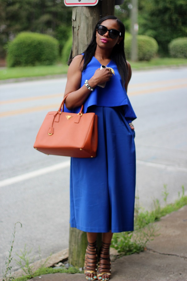 blaquel label, c/meo collective, shopbop, blue croptop, crop top, flouncy top, c/meo crop top, wide leg pants, wide crop pants, culottes, blue culottes, snake skin shoes, snake skin sandals, aquqzzura, orange bag, prada bag, saffiano tote, saffinano bag, prada saffinano bag, papaya bag, celine sunglasses, black sunglasses, earcrawlers, blue outfit, monochromatic outfit, , SAFFIANO TOTE,  red lips, nars lip pencil, dragon girl lip pencil, dragon girl,  wcw, wednesday,  Daniel wellington, Daniel Wellington  black sunglasses, Celine sunglasses, cat eye sunglasses, WOMEN'S FASHION, SUMMER TRENDS, SUMMER FASHION, SUMMER STYLE, SUMMER 2015, SUMMER TIME, STREET STYLE,  FASHON, STYLE, FASHION BLOG, FASHION BLOGGER, F BLOGGER, STYLE BLOG, STYLEBLOGGER, STYLIST, STYLISH, STREETSTYLE, PERSONAL STYLE, PERSONAL STYLE BLOGGER, BLOGGER, BLOG, INSTA STYLE, INSTA FASHION, WHAT TO WEAR, OOTD, FASHION OF THE DAY, STYLE OF THE DAY, FASHION AND STYLE, winter STYLE, WHAT TO WEAR FOR This season, MUST HAVE, summer, summer fashion, summer style, summer TRENDS, fashion TRENDS  , Atlanta blogger