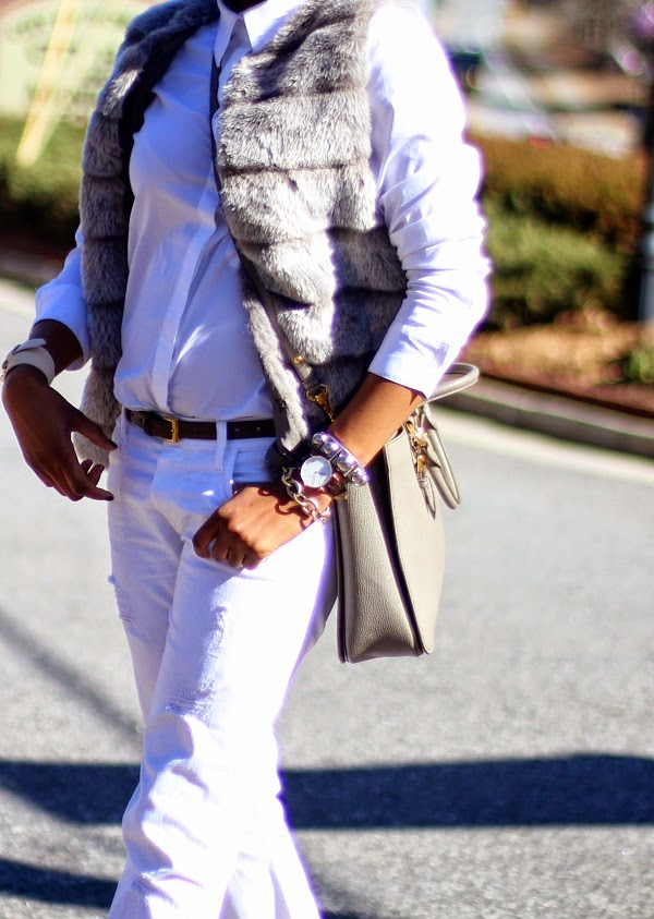 fur vest street style