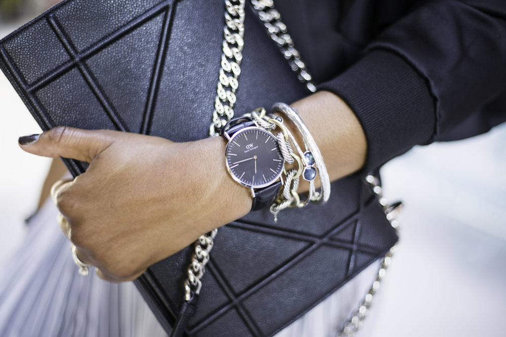 I love wearing men's watches, with ultra chic outfits. Its creates the perfect juxtaposition between feminine and masculine and I love it!