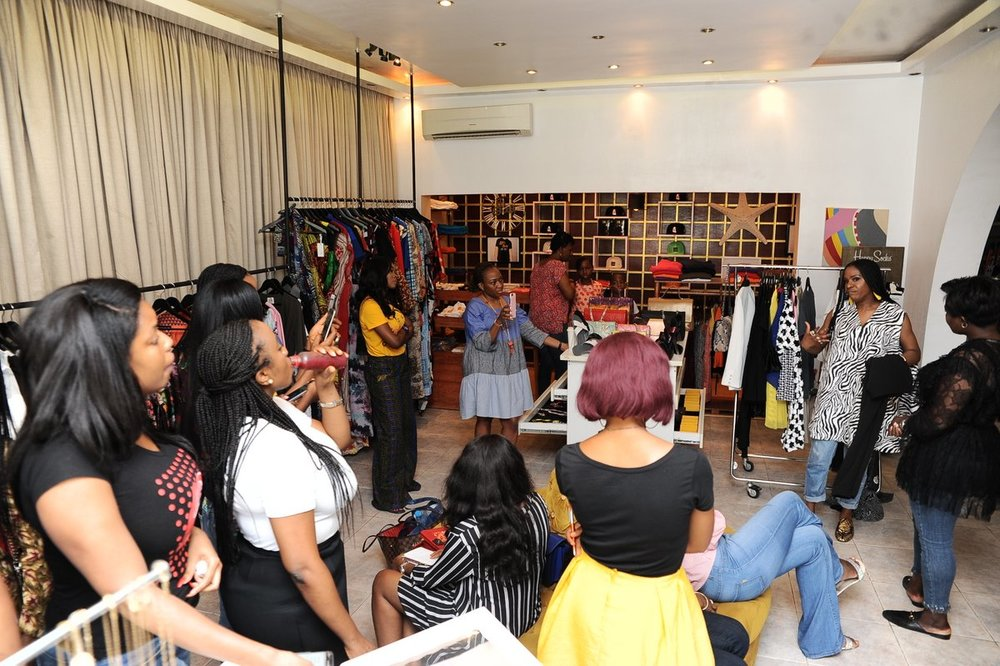 Second and final styling and shopping event at Meidi Lekki.