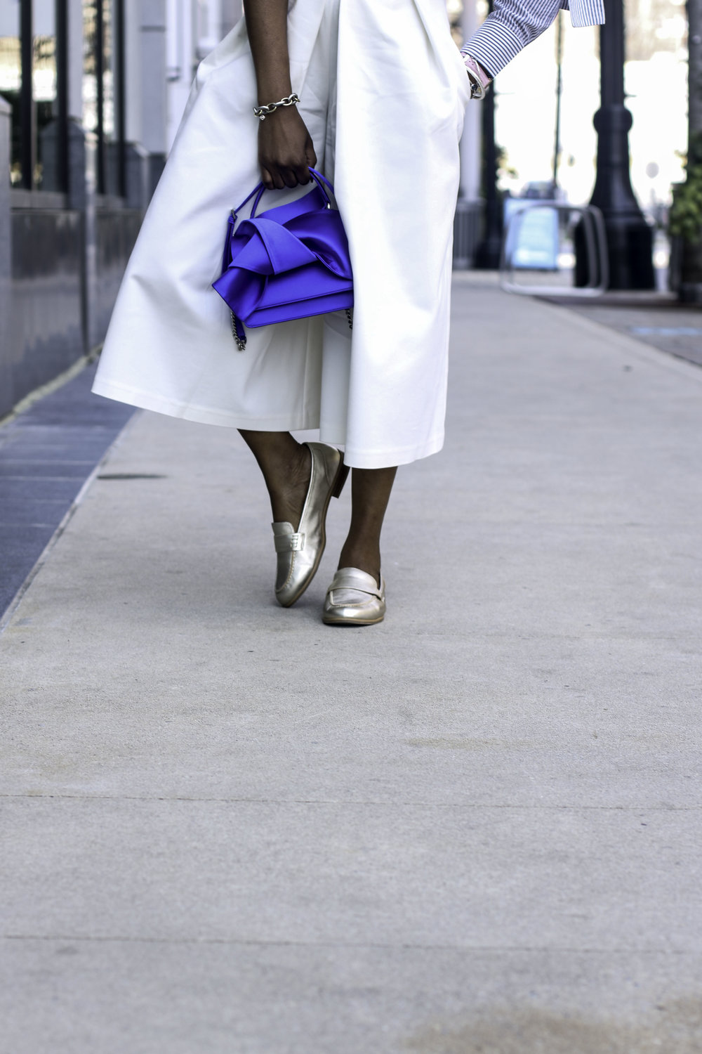 WHITE CULOTTES AND METALLIC LOAFERS.jpg
