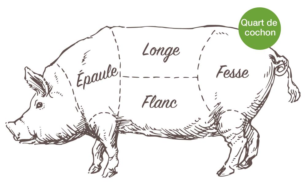 Cochon Image quart de cochon — la ferme des quatre-temps