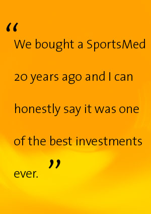 SportsMed lasts for many years