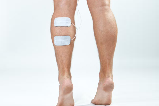 calf muscle electrode placement