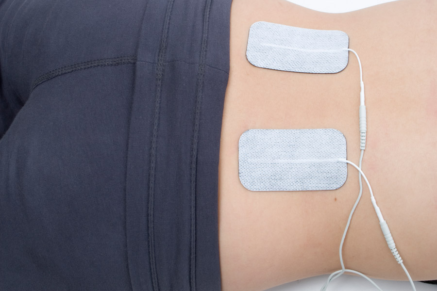 back pain electrode placement